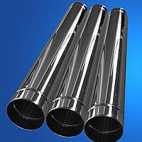 Труба дымоходная из нержавеющей стали ECO MONO STALAR  (одностенная) 201, 1 м, нерж, 1 мм ДЫМОХОДЫ АДС