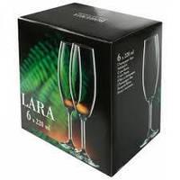 Фужери для шампанського Lara 6*220 мл