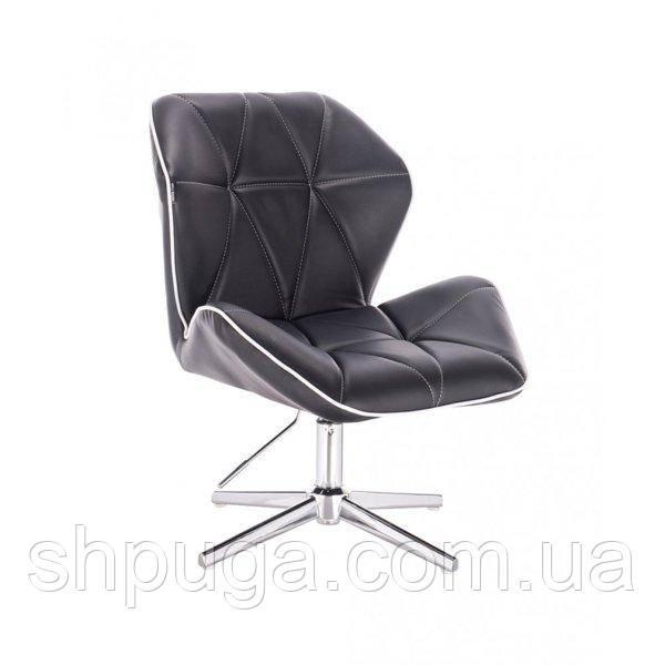 Кресло  HR 212  черное эко-кожа стопки