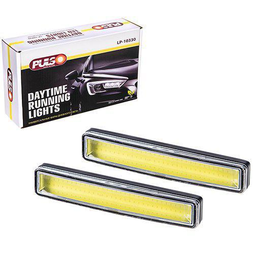 Фари протитуманні/денного світла LP-10330 DRL COB/8W/12V/алюміній/151*24mm