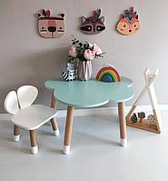 Детский деревянный стол Облако к стенке. 100% дерево массив бук