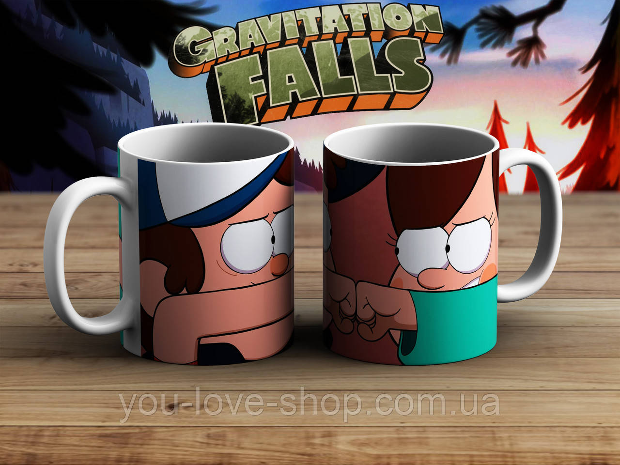 Чашка Диппер и Мэйбл Гравити Фолз / Gravity Falls