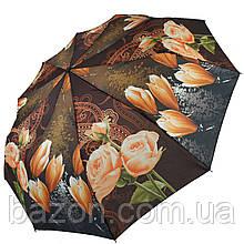 Женский зонт полуавтомат Susino, цветочный принт, 43006-3