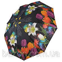 Женский зонт полуавтомат Susino, цветочный принт, 43006-10