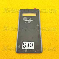 Samsung Galaxy S10 задняя крышка для телефона, черного цвета.
