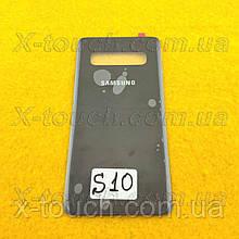 Samsung Galaxy S10 задня кришка для телефону, чорного кольору.