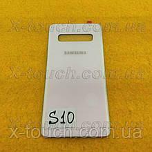 Samsung Galaxy S10 задня кришка для телефону, білого кольору.