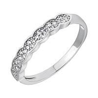 Серебряное кольцо Венец камней с фианитами 000118383 15 размер