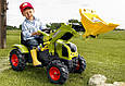 Трактор на педалях с ковшом Rolly Toys CLAAS 611072  Надувные колеса, фото 5