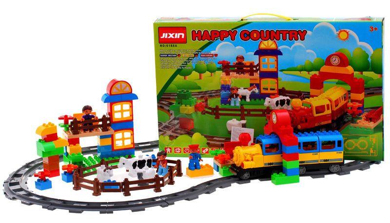 Конструктор JIXIN 6188A Железная дорога и Ферма 110 деталей