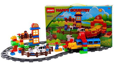 Конструктор JIXIN 6188A Железная дорога и Ферма 110 деталей, фото 2