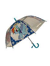 """Детский зонт-трость Mario """"Пинки пай"""", с голубой ручкой, TF5-4"""
