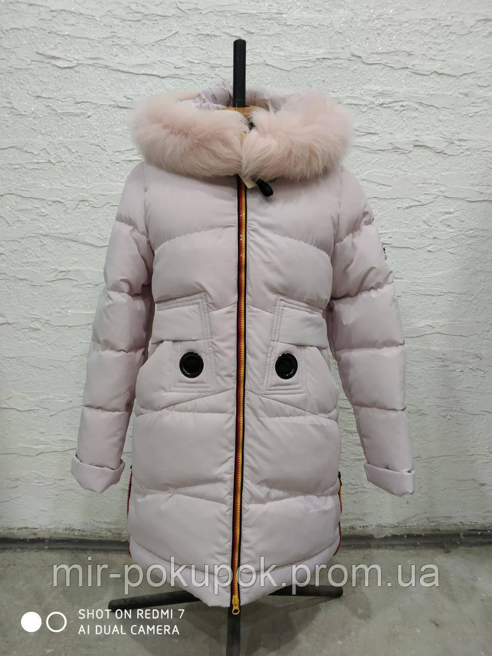 Детское зимнее пальто Жозефина-3 мех песец, фото 1