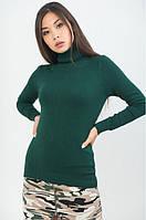 Трикотажная Водолазка Тёмно-Зеленая арт.2816 S/M