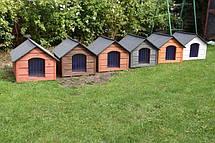 Утепленная будка для собак из дерева с Comfort House L, фото 3