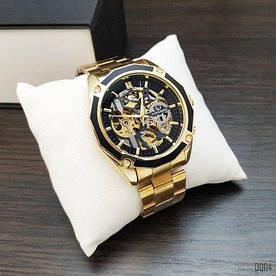 Наручные часы эконом Forsining 8130 Gold-Black