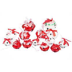 Набор ёлочных игрушек Новогодние бубенцы MHZ 038NY в мешочке, 14 шт. (5*5 см)