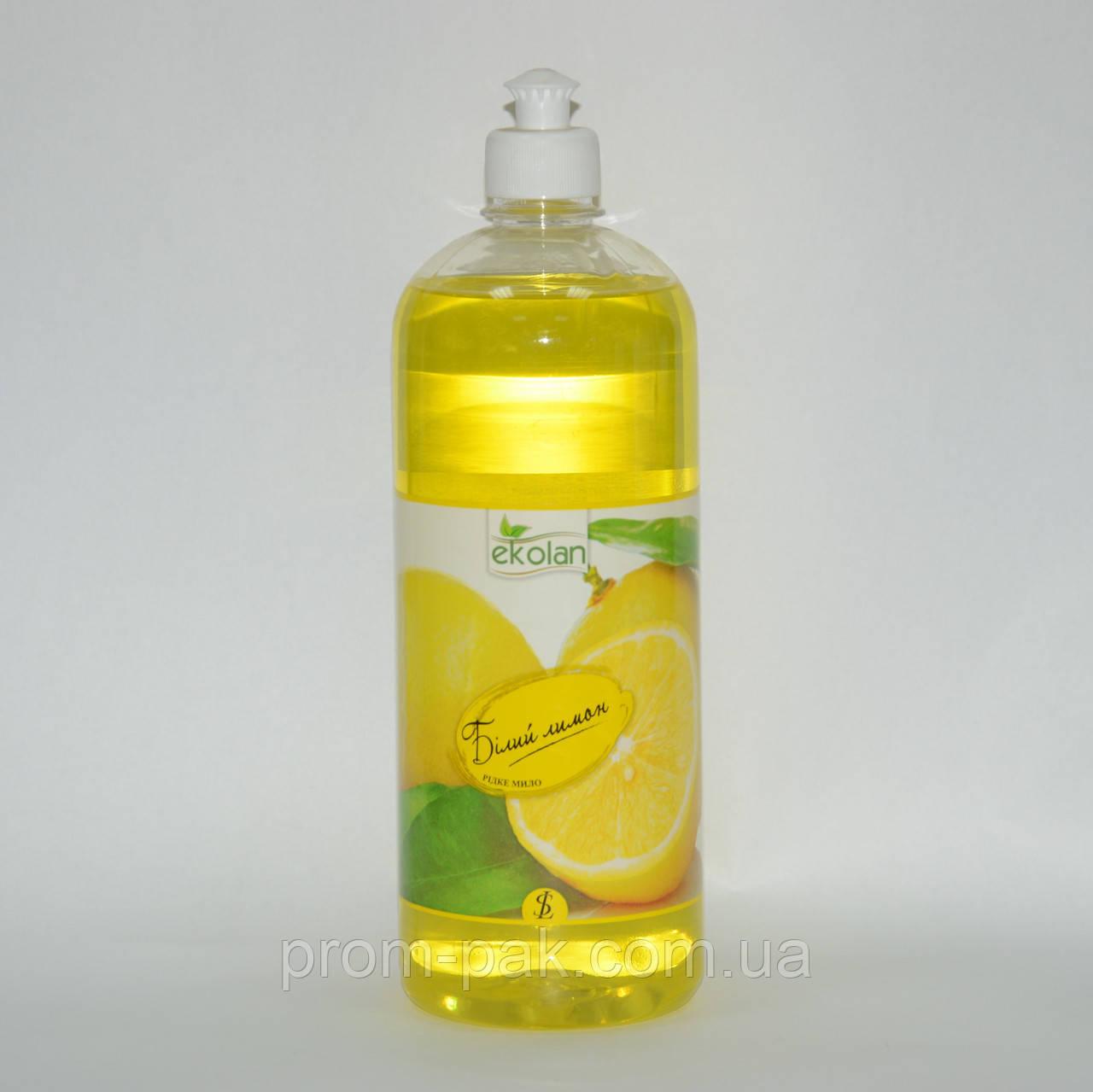 Жидкое мыло Белый лимон Ekolan 1 л