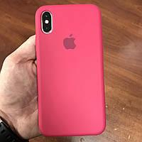 Чехол на телефон iphone x xs 10 красивый силиконовый бампер для айфона 10 малиновый