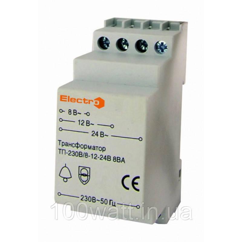 Понижающий трансформатор на din-рейку ПТ23024 Electro