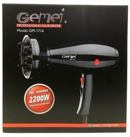 Фен для волос Gemei GM 1716 2200 W