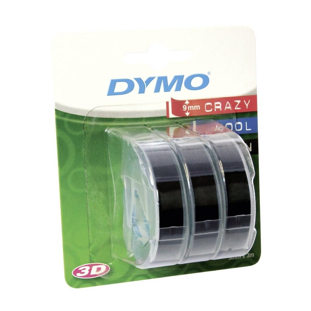 Стрічка пластикова Dymo 9ммх3м (уп.3шт.) для принтерів Dymo Omega