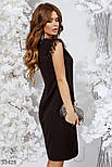 Приталенное вечернее платье по колено черное, фото 3