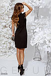 Приталенное вечернее платье по колено черное, фото 4