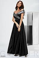 Вечернее длинное платье макси с открытыми плечами