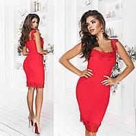 Женское платье на кружевных бретелях ТК/-3088 - Красный, фото 1