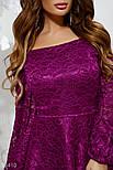 Вечернее платье-футляр с баской фиолетовое, фото 3