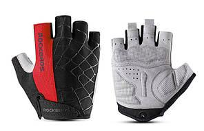 Перчатки RockBros Spyder, черно-красные, S
