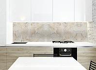 """Скинали на кухню Zatarga """"Мрамор"""" 600х2500 мм бежевый виниловая 3Д наклейка кухонный фартук самоклеящаяся"""