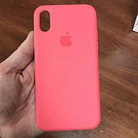 Чехол на телефон iphone x xs 10 красивый силиконовый бампер для айфона 10 розовый, фото 1