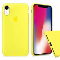 Чехол накладка xCase для iPhone XR Silicone Case Full лимонный