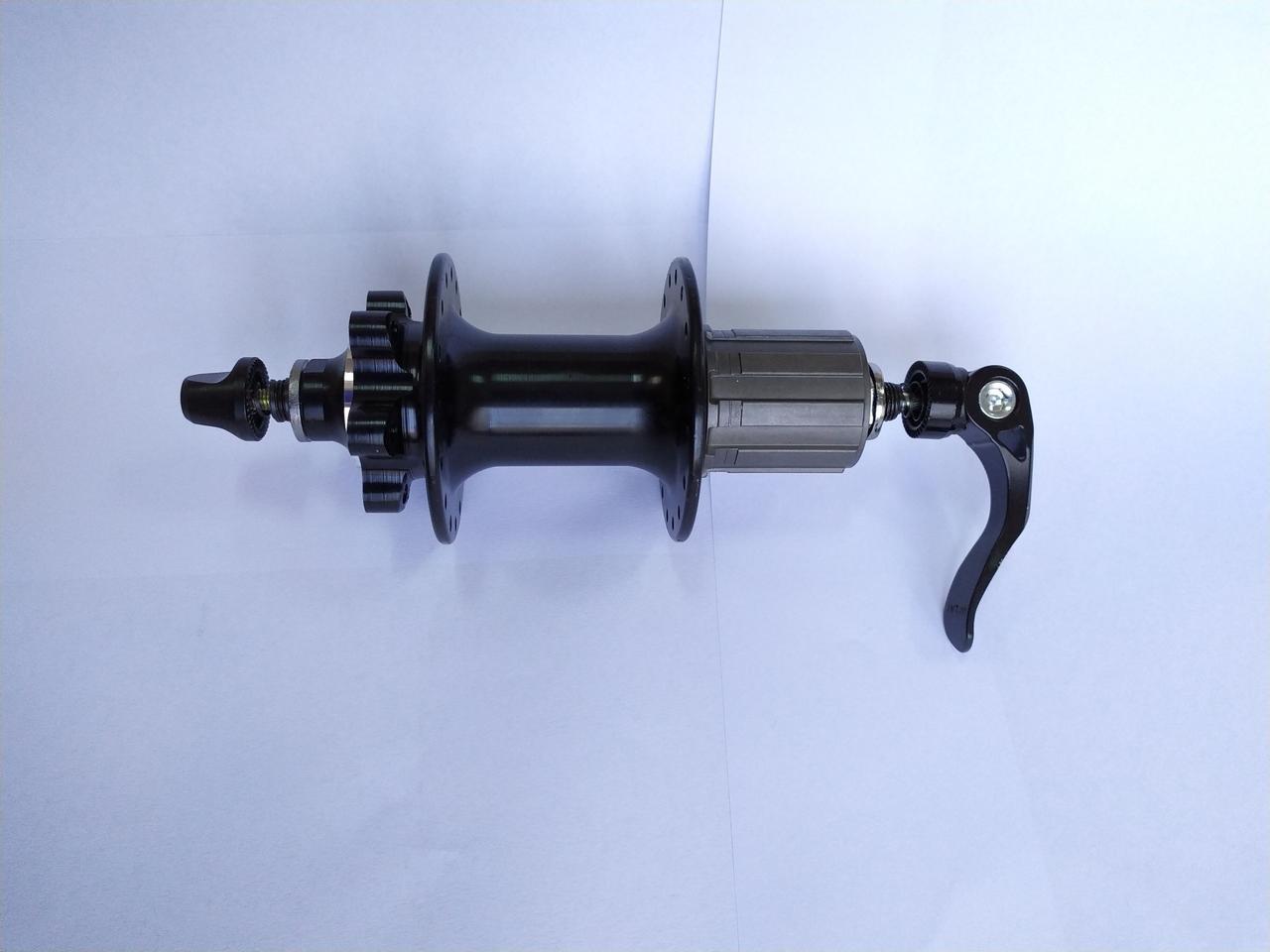Втулка задняя Shungfeng 32H под кассету 8/9/10 зв, 2 промподшипника, эксцентрик, черная