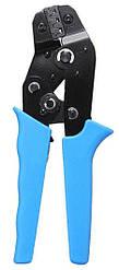 Пресс-клещи для опрессовки кабельных наконечников клемм MHZ SN-48B 5-15 см, голубой