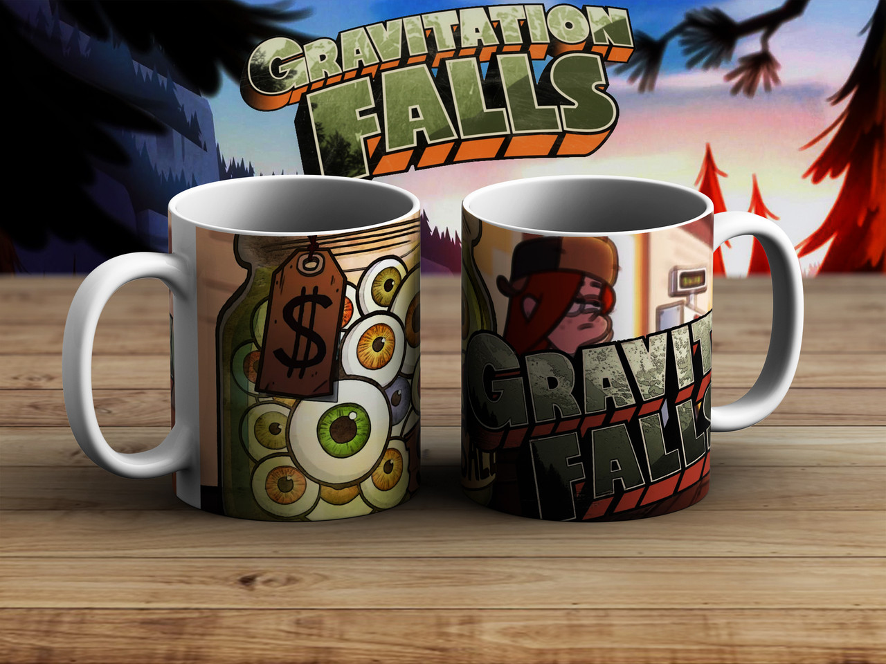 Чашка mystery shack Глаза Гравити Фолз / Gravity Falls