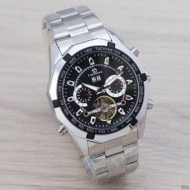 Наручные часы эконом Forsining 340 Silver-Black