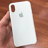 Чехол на телефон iphone x xs 10 красивый силиконовый бампер для айфона 10 светло-зеленый