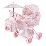 Коляска для куклы с зонтиком и рюкзаком Мария DeCuevas 85028, фото 6