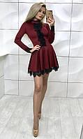 Платье женское с кружевом /разные цвета, 42-46, ft-379/