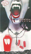 Клыки вампира + капсулы с кровью