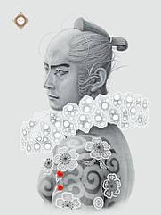 Схема для вишивання бісером Народжений самураєм