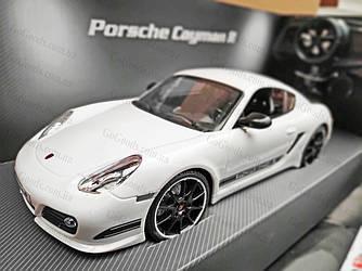 Машинка радиоуправляемая Porsche Cayman 1:16 с аккумулятором Белая
