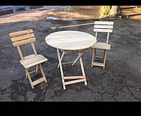 Стол для кофейни круглый раскладной журнальный туристический, фото 1
