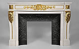 Мраморный камин Аркадия Стиль Людовика XVI(сусальное золото), фото 2