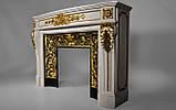 Мраморный камин Аркадия Стиль Людовика XVI(сусальное золото), фото 4
