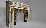 Мраморный камин Аркадия Стиль Людовика XVI(сусальное золото), фото 5