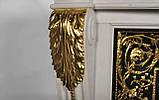 Мраморный камин Аркадия Стиль Людовика XVI(сусальное золото), фото 6